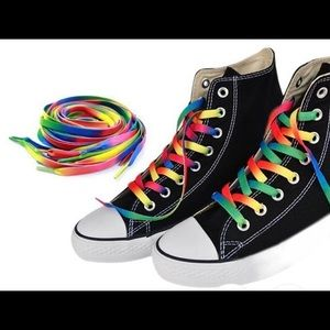 Just shoe laces nice Rain bow colors